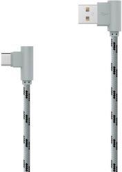 Mobilnet USB Type C kábel 2m, šedý
