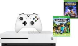 Microsoftd Xbox One S 500 GB bílý + Minecraft + Minecraft Story Mode