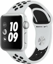 Apple Watch Series 3 Nike+ 38mm stříbrný hliník a platinový/černý sportovní řemínek Nike