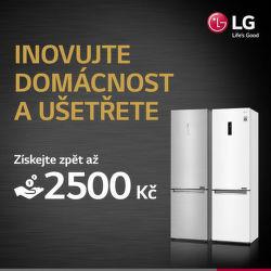 Cashback až 2 500 Kč na chladničky LG
