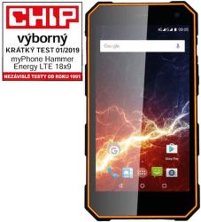 MyPhone Hammer Energy 18x9 černo-oranžový vystavený kus splnou zárukou