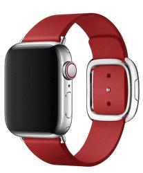 Apple Watch kožený řemínek 40/38 mm vel. M, (PRODUCT)RED