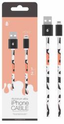 Aligator Plus Lightning kabel 2 A 1m, růžová s motivem