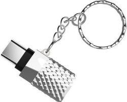 Viking USB-C/USB-A redukce, stříbrná