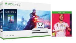 Microsoft Xbox One S 1TB + Battlefield V Deluxe Edition + FIFA 20