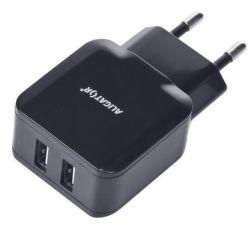 Aligator síťová nabíječka Turbo Charge 2xUSB 2.4A, černá