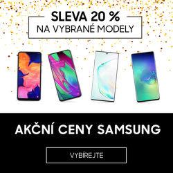Akční ceny Samsung - vybrané modely se slevou 20 %