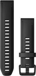 Garmin Quickfit 20 mm silikonový řemínek pro Fénix 6S, černá