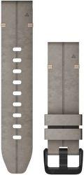 Garmin QuickFit 20 mm kožený řemínek pro Fénix 6S, šedá