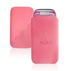Puro mobile phone Nabuk case (růžové)