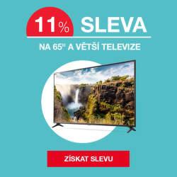 """Sleva 11 % na 65"""" a větší televize"""