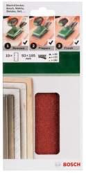 Bosch Sandpaper 10 ks brusné papíry 93 x 185 mm