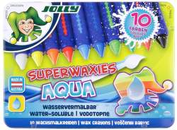 Jolly Superwaxies Aqua 10 voskových pastelek