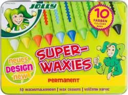 Jolly Superwaxies Permanent 10 voskových pastelek