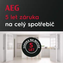 5 let záruka na spotřebiče AEG