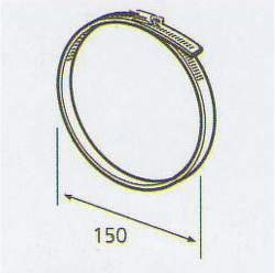 ELICA 3023 P / R, kruhové spona