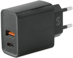 Fonex USB/USB-C adaptér 3,1A, černá