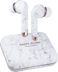Happy Plugs Air 1 Plus In-Ear bílý mramor