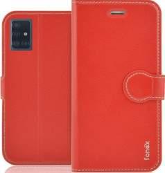 Fonex Identity flipové puzdro pro Samsung Galaxy A51, červená