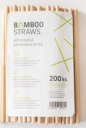 Bamboo Straws BS0823 bambusová brčka 200ks
