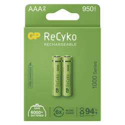 GP ReCyko HR03 (AAA) 950 mAh 2 ks