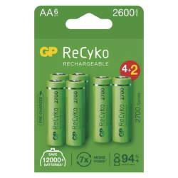 GP ReCyko HR06 (AA) 2600 mAh 6 ks