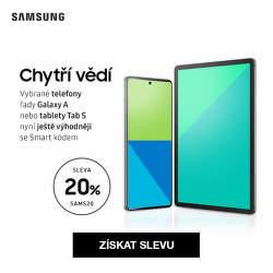 Dodatečná 20 % sleva na vybrané mobily a tablety Samsung
