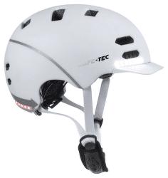 Safe-Tec SK8 L chytrá helma bílá