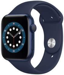 Apple Watch Series 6 44 mm modrý hliník s námořnický modrým sportovním řemínkem