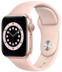 Apple Watch Series 6 40 mm zlatý hliník s pískově růžovým sportovním řemínkem