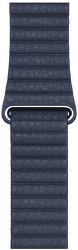 Apple Watch 44 mm kožený řemínek hlubinně modrý M