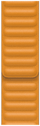Apple Watch 44 mm kožený řemínek měsíčkově oranžový M/L