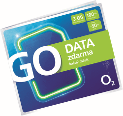 O2 SIM karta GO Data zdarma