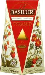 Basilur Fruit Strawberry & Raspberry Pyramid 30g ovocný čaj