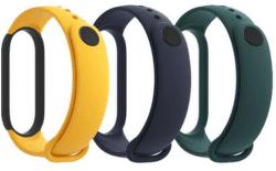 Xiaomi Mi Band 5 3 ks řemínků modrá/žlutá/zelená
