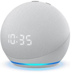 Amazon Echo Dot 4. gen s hodinami Glacier White
