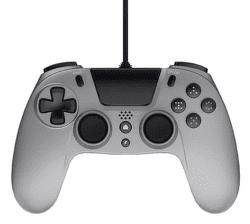 Gioteck VX4 Premium Wired Controller 3,5mm Audio port (PS4/PC) stříbrný