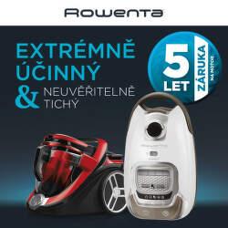 5 let záruka na motor vysavačů Rowenta