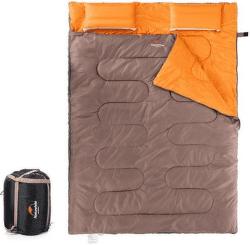 Naturehike spací pytel pro 2 osoby 2400g hnědá/oranžová