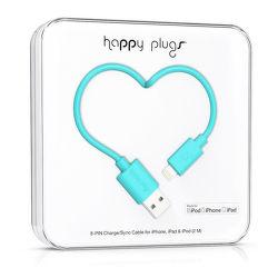 Happy Plugs 9906 Lightning kabel 2m, tyrkysový