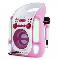 Auna Kara Illumina růžový karaoke systém