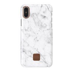 Happy Plugs pouzdro pro iPhone X, White Marble