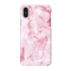 Happy Plugs pouzdro pro iPhone X, Pink Marble