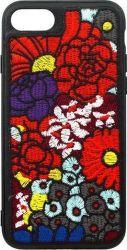 Mobilnet gumové pouzdro pro iPhone 7/8 květiny, černá