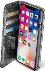 Cellular Line Book Agenda pouzdro pro iPhone X, černá