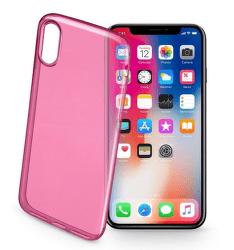 Cellular Line Fine gelové pouzdro pro iPhone X, růžová