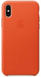 Apple kožený kryt pro iPhone X, jasně oranžový