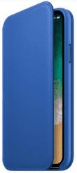 Apple kožené pouzdro Folio pro iPhone X, elektro modré