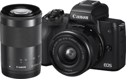 Canon EOS M50 černá + EF-M 15-45mm IS STM + EF-M 55-200mm IS STM