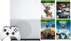 Microsoft Xbox One S 1TB PlayerUnknown's BattleGrounds + Steep + The Crew + Rare Replay